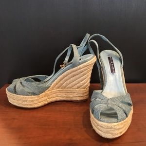 RALPH LAUREN COLLECTION - ESPADRILLE WEDGES